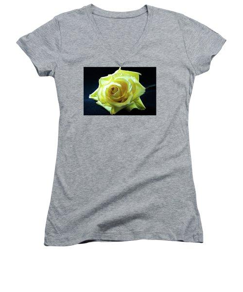 Yellow Rose-7 Women's V-Neck