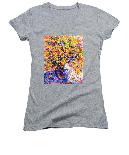 Yellow Sunshine Women's V-Neck T-Shirt
