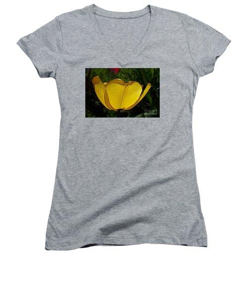 Yellow Tulip 2 Women's V-Neck