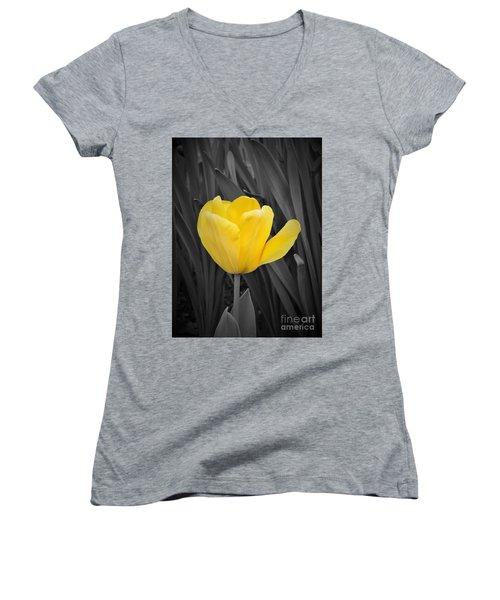 Yellow Tulip Women's V-Neck T-Shirt
