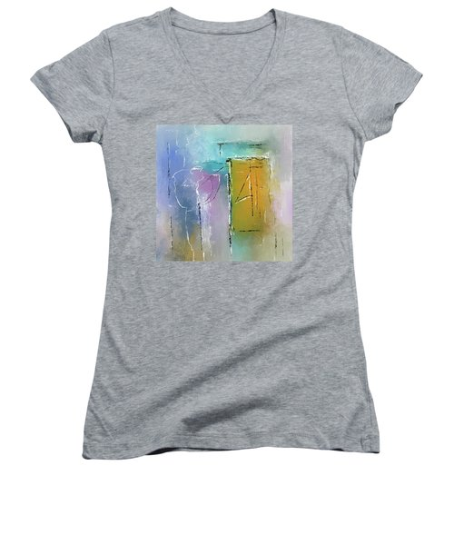 Yellows And Blues Women's V-Neck