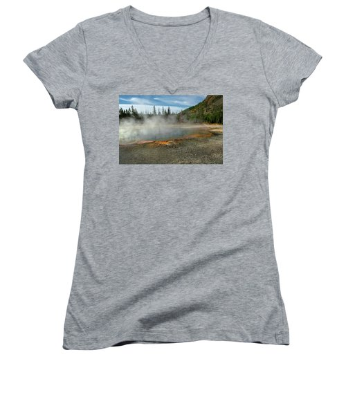 Women's V-Neck featuring the photograph Yellowstone Colors #5 by Scott Read