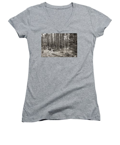 Yellowstone Fire Burn Scar Women's V-Neck (Athletic Fit)
