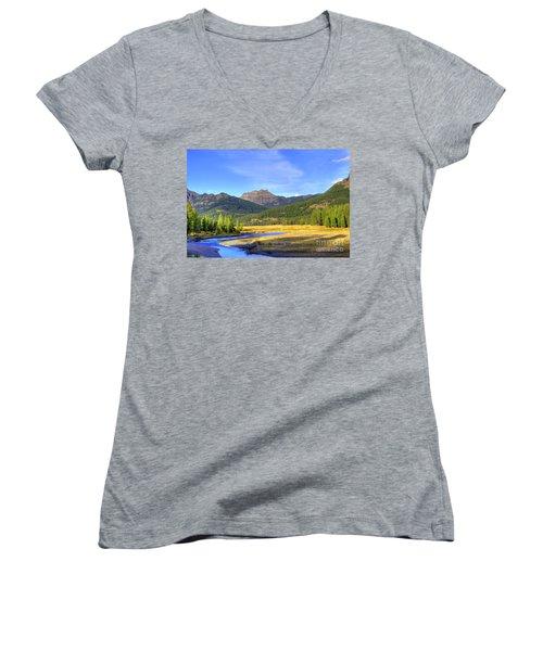 Yellowstone National Park Landscape Women's V-Neck