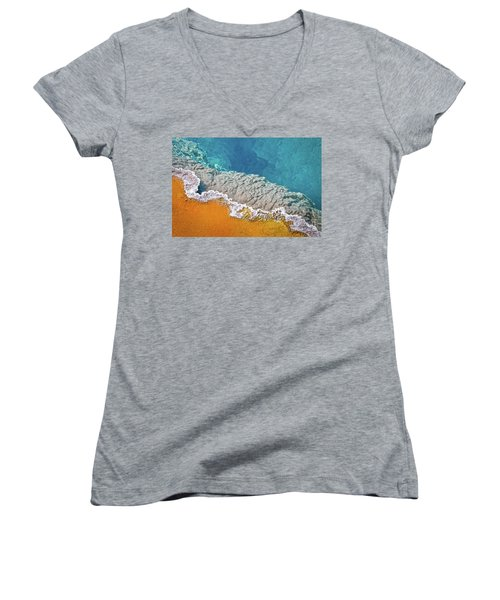 Yellowstone Pool Women's V-Neck (Athletic Fit)