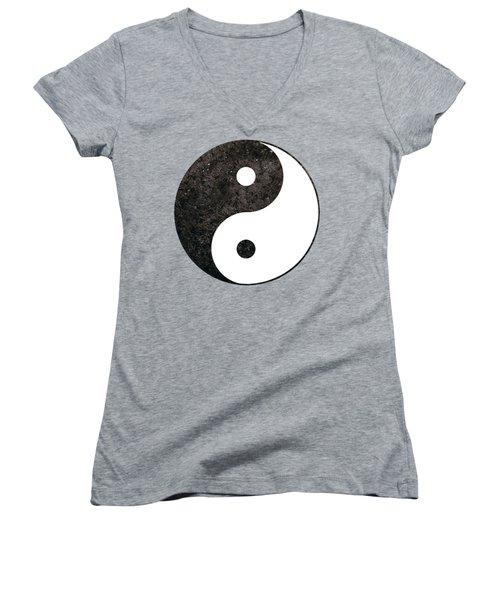 Yin Yang Symbol Women's V-Neck