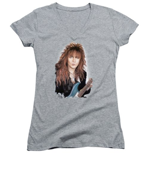 Yngwie Malmsteen Women's V-Neck (Athletic Fit)