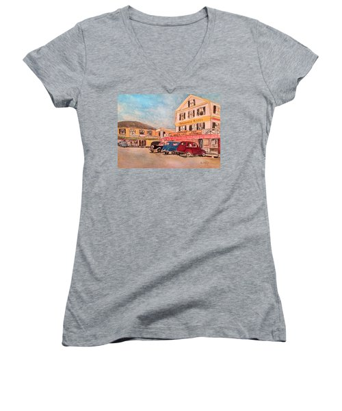 York Beach In Maine Women's V-Neck