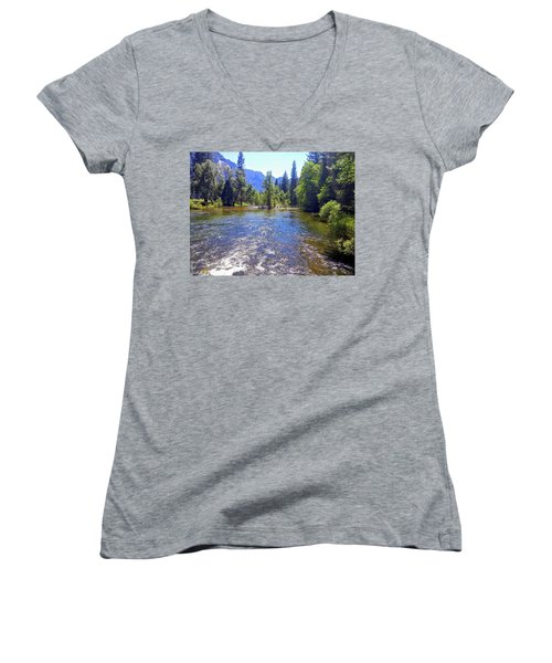 Yosemite River At Ease Women's V-Neck