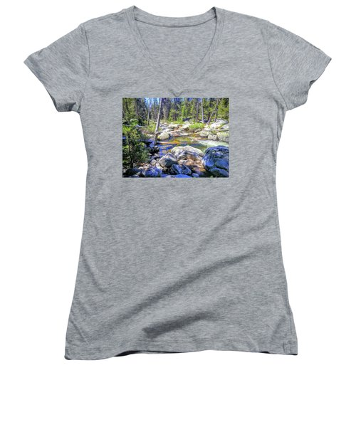 Yosemite Boulder Stream Women's V-Neck