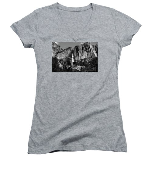 Yosemite Black Falls  Women's V-Neck