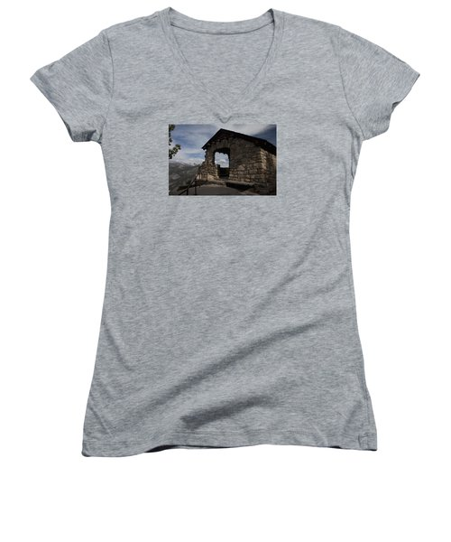 Women's V-Neck T-Shirt (Junior Cut) featuring the photograph Yosemite Refuge by Ivete Basso Photography