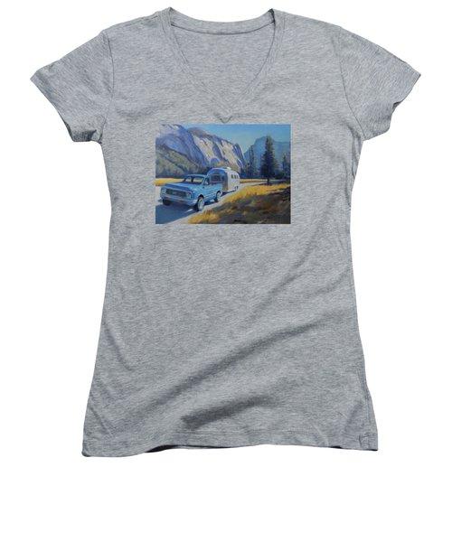 Yosemite Splendor Women's V-Neck (Athletic Fit)