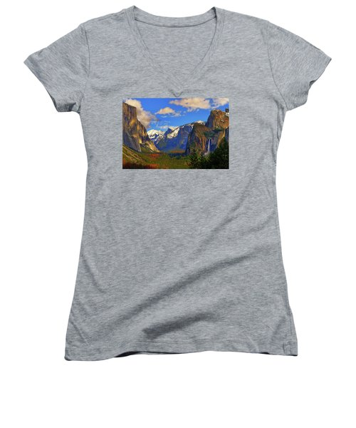 Yosemite Valley Tunnel View Women's V-Neck