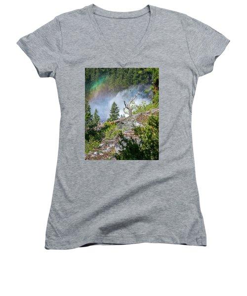 Stroll Passed Nevada Women's V-Neck T-Shirt (Junior Cut) by Ryan Weddle