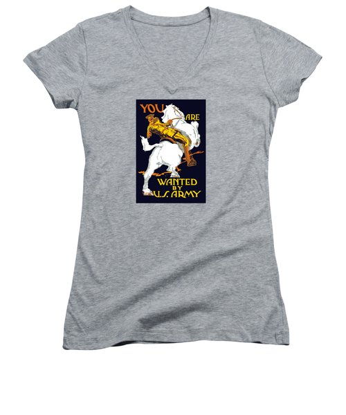 You Are Wanted By Us Army Women's V-Neck