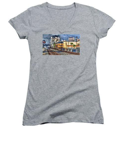Women's V-Neck T-Shirt (Junior Cut) featuring the photograph You Can Go Your Own Way by Michael Rogers