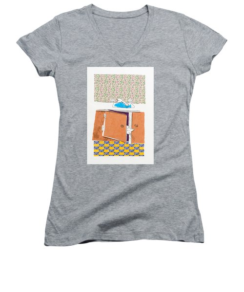You Looking For Me Women's V-Neck T-Shirt (Junior Cut) by Leela Payne