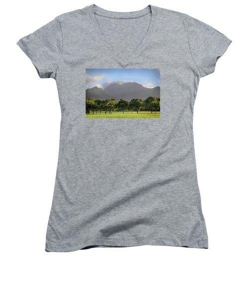 Women's V-Neck T-Shirt (Junior Cut) featuring the photograph You Still Can Touch My Heart by Laurie Search