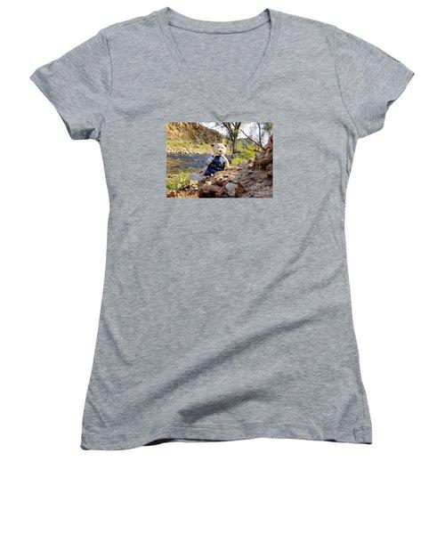 You Were Expecting Bigfoot Women's V-Neck T-Shirt