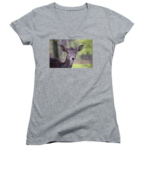 Young Deer Women's V-Neck (Athletic Fit)