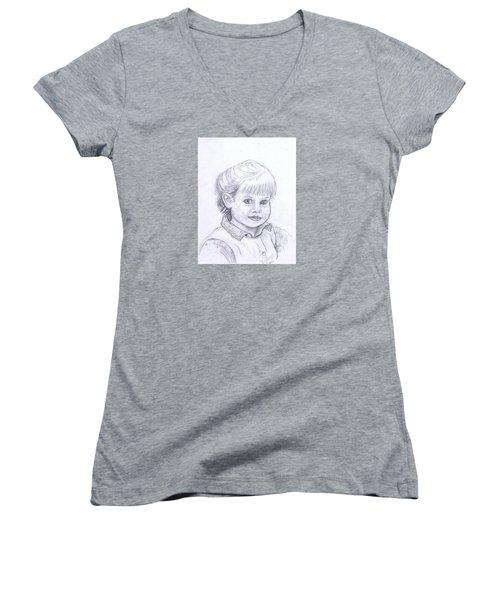 Young Girl Women's V-Neck T-Shirt (Junior Cut)