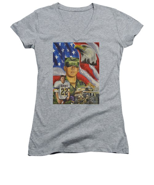 Young Warrior Women's V-Neck T-Shirt