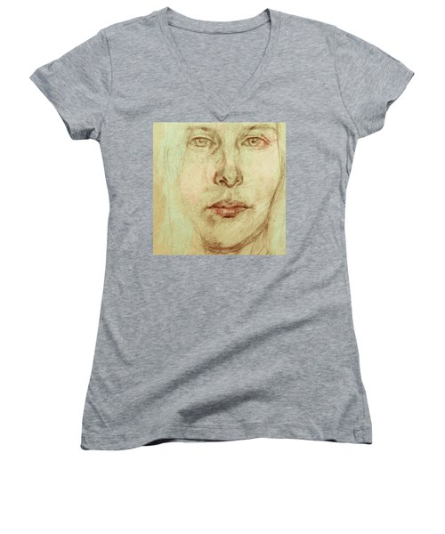 Young Woman Women's V-Neck