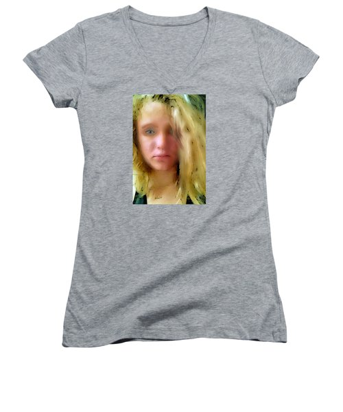 Young Woman Women's V-Neck T-Shirt