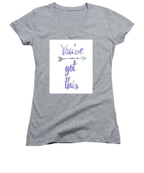 You've Got This Women's V-Neck (Athletic Fit)
