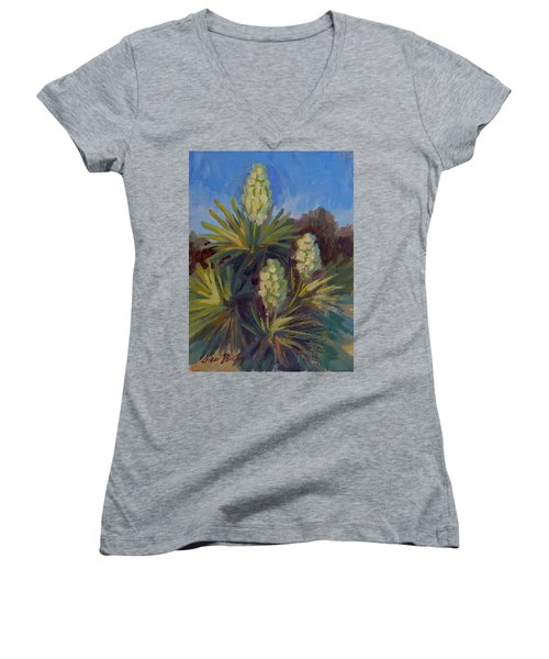 Yucca At Joshua Tree Women's V-Neck
