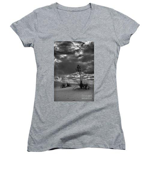 Yucca At Sunset Women's V-Neck T-Shirt