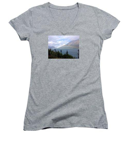 Yukon Rainbow Women's V-Neck T-Shirt