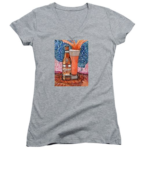 Yum Burr Hyf. Beer Women's V-Neck T-Shirt