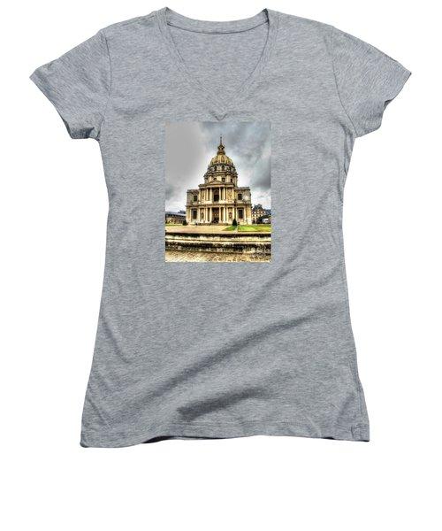 Yury Bashkin Nice Place Women's V-Neck T-Shirt (Junior Cut) by Yury Bashkin