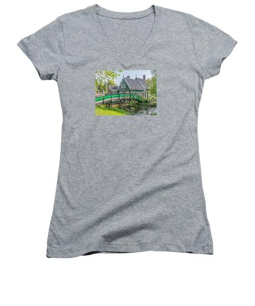Zaanse Schans Village Women's V-Neck T-Shirt