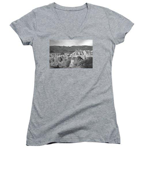 Zabriskie Point Landscape Women's V-Neck T-Shirt (Junior Cut) by Marius Sipa