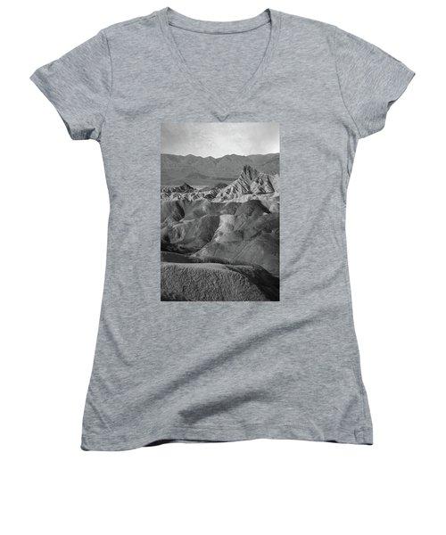 Zabriskie Point Portrait Women's V-Neck T-Shirt