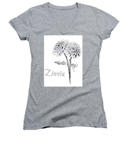 Zannie Zinnia Women's V-Neck