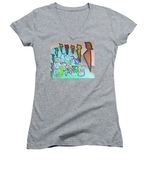 Zayin, Protecting The Tribe Ab24 Women's V-Neck