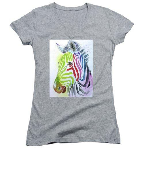 My Polychromatic Friend Women's V-Neck T-Shirt