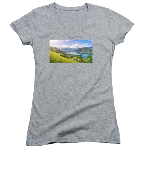 Zell Am See - Alpine Beauty Women's V-Neck T-Shirt