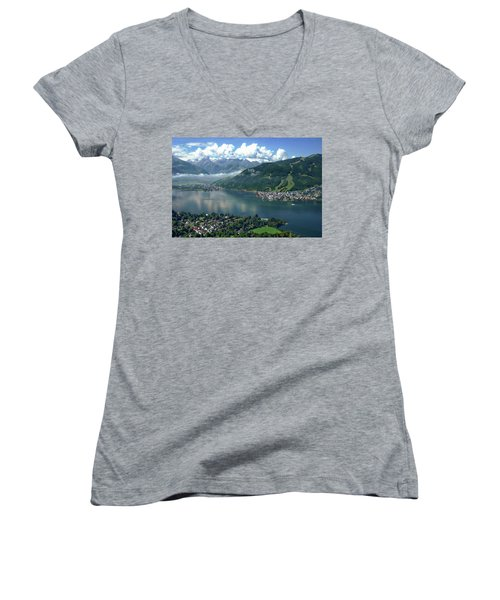 Zell Am See Panorama Women's V-Neck