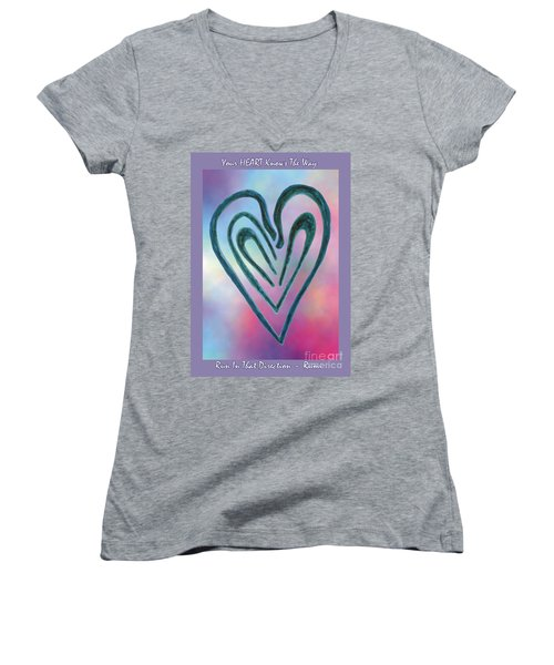 Zen Heart Labyrinth Women's V-Neck (Athletic Fit)