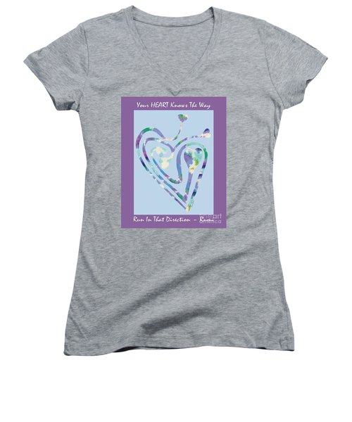Zen Heart Labyrinth Pastel Painting Women's V-Neck (Athletic Fit)