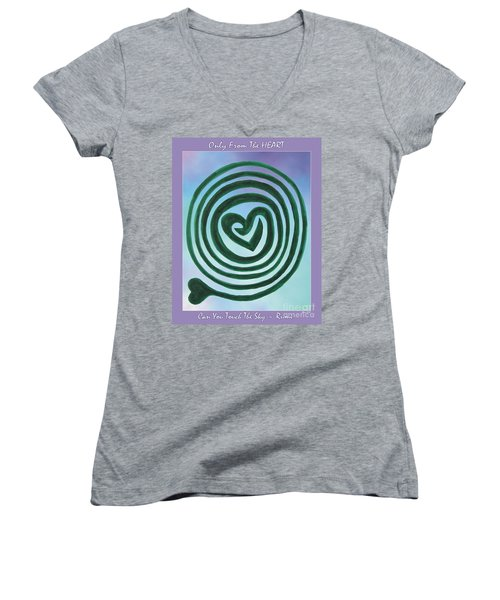 Zen Heart Labyrinth Sky Women's V-Neck (Athletic Fit)