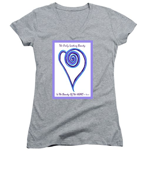 Zen Heart Off Balance Women's V-Neck (Athletic Fit)