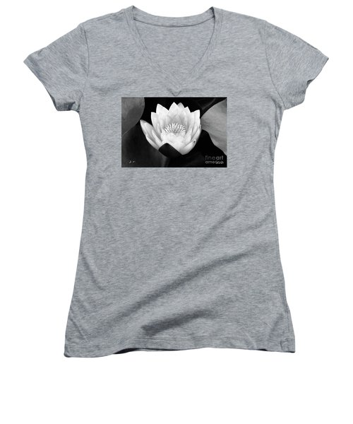 Waterlily Rising Women's V-Neck (Athletic Fit)