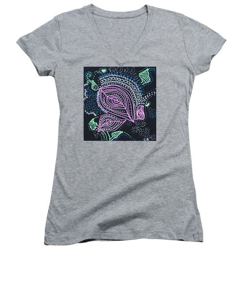 Zentangle Flower Women's V-Neck