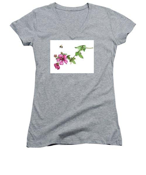 Zoom Women's V-Neck T-Shirt (Junior Cut) by Heidi Kriel